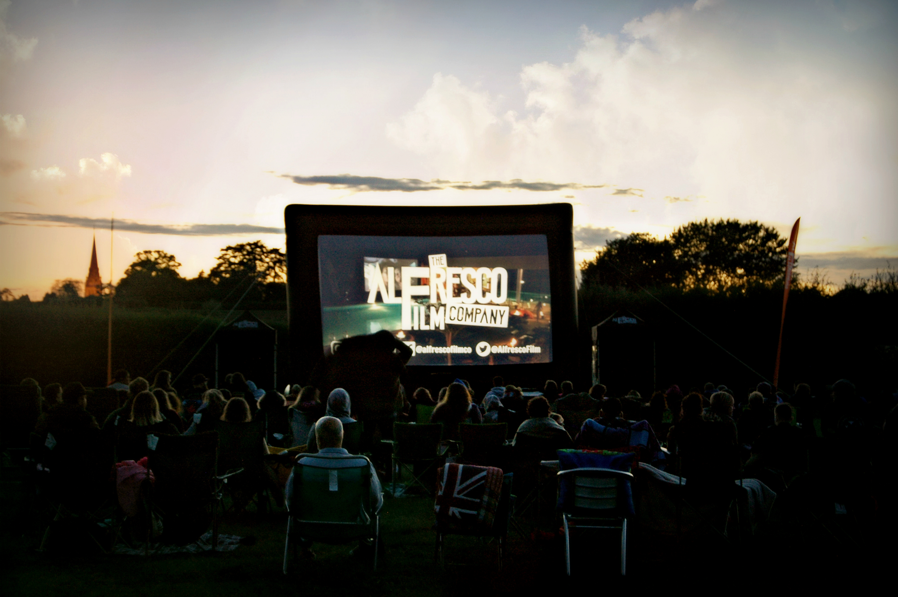 The Alfresco Film Company outdoor cinema night at Over Farm